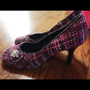 Sbicca Shoes - Pink and Black Heels