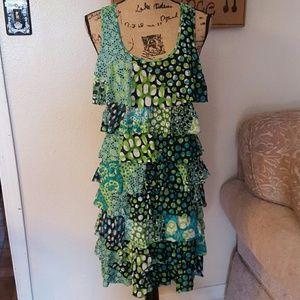 Kenneth Cole Dresses & Skirts - 🎉FLASH SALE🎉Kenneth Cole tank ruffle dress sz LG