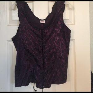 Purple/Black corset top