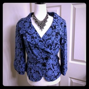 Kay Unger Jackets & Blazers - Kay Unger Blue Floral Blazer