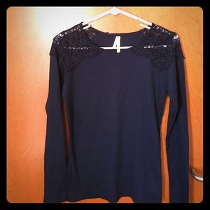 Tops - Lacy Shoulder Top