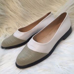 Joan & David Shoes - Joan & David grey white vintage spectator flats 8