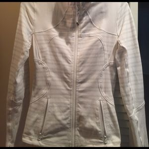 White striped Lululemon jacket size 4