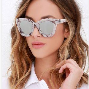 Quay Australia Accessories - Quay Australia white marble sunglasses