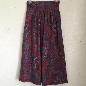 Vintage Dresses & Skirts - VTG paisley high waist skirt deadstock/NWT