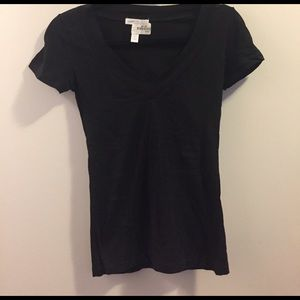 Necessary Clothing Tops - Black v neck t shirt