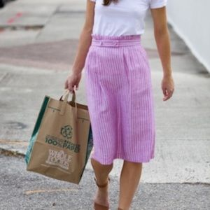 Emerson Fry Dresses & Skirts - Emerson Fry Striped Linen Skirt