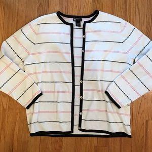 Carole Little Sweaters - Carole Little Spring Cardigan 2X & Free Gift