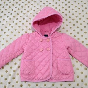 *flawed* Baby Gap pink quilted jacket