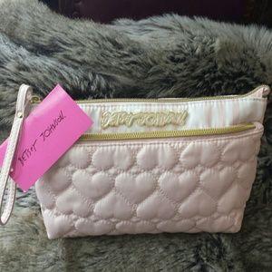 Betsy Johnson  Handbags - Betsy Johnson NWT Blush Trapezoid Wristlet