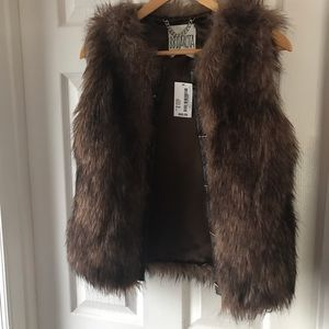 Fur vest, new with tags