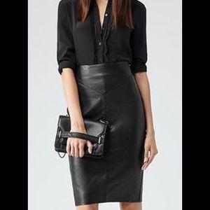 Reiss Dresses & Skirts - Reiss Shannon 100% Lamb Leather Pencil Skirt 6