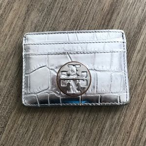 Tory Burch Card Holder | Silver
