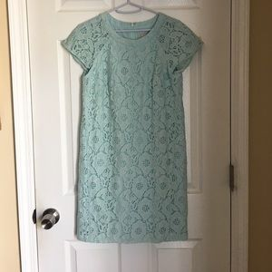 LOFT lace dress in mint