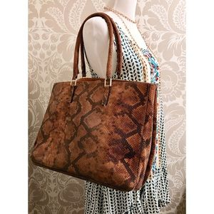 alberta di canio Handbags - Alberta Di Canio *genuine leather* snake print bag