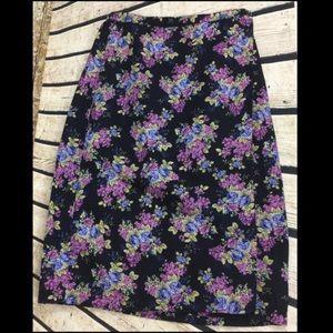 Liz Claiborne Dresses & Skirts - 🍇SALE🍇Gorgeous Long Floral Linen Wrap Skirt