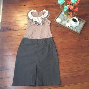 New York & Company Dresses & Skirts - New York & company dark taupe pencil skirt