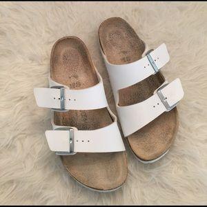 Birkenstock Shoes - Womens white Birkenstock sandals.White Birkenstock