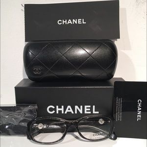 CHANEL Accessories - Chanel Black Oval Eyeglasses Frames