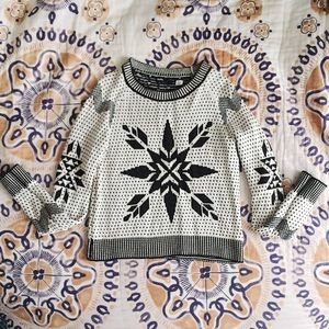 Urban Outfitters Sweaters - Black and White Snowflake Sweater