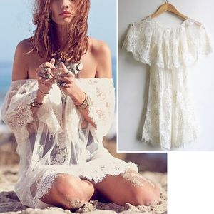 Other - Lovely lace vogue bathing suit cover up free size