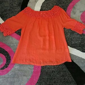 iRE Fashion Tops - Plus size Tangerine top