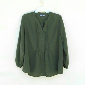 Laura Scott Tops - Plus Size Long Sleeve Blouse Sz 18 / 20W