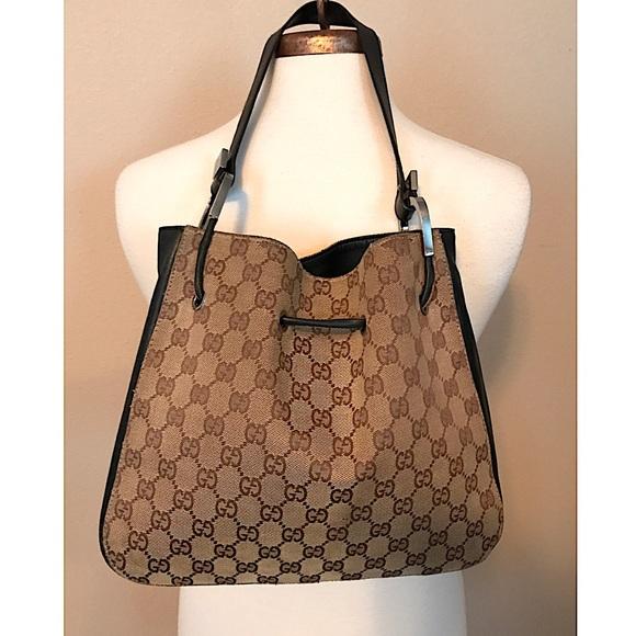 3b36b59773d Gucci Handbags - GUCCI GG Jacquard Drawstring Shoulder Bag