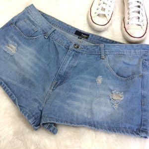 Hype Pants - Hype plus size distressed denim shorts 19/20
