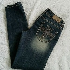 Women's YMI Skinny Low-RIse W/Crystals Jeans:5