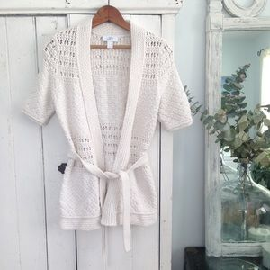 🆕 Loft crochet belted cardigan