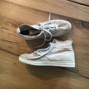 Coach high top suede sneakers