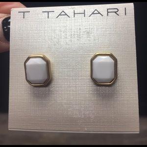 T Tahari Jewelry - Tahari white gold earrings nwt