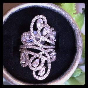 boutique Jewelry - SWIRLY CZ RING STAMPED .925