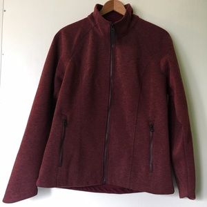 North Face Jackets & Blazers - North Face // Far Northern Full Zip - maroon