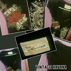 Vintage Havana Tops - Vintage Havana black v neck tshirt
