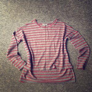 BB Dakota Sweaters - BB Dakota Hi-Low Sweater Striped Crew Neck