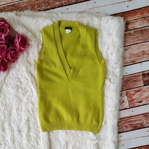 Neon Green J. Crew Sweater Vest