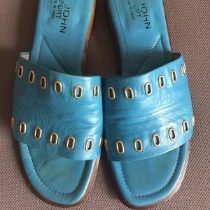 St. John sport leather sandals flats. Italy 🇮🇹