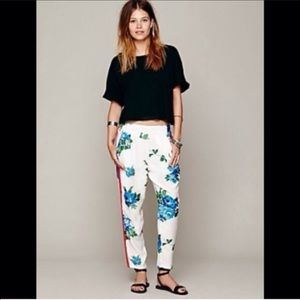 HP Free People Floral Pleat Pant