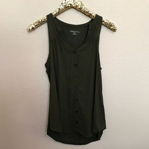 Merona Tops - Olive Green Sleeveless Blouse Size Small