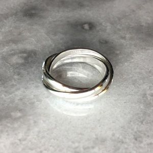 Jewelry - Sterling Silver 3 Piece Interlocking Ring