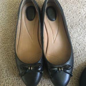 Clarks Shoes - Clarks Black Ballet Flats