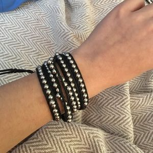 Chan Luu Jewelry - Black and Silver Beaded Wrap Bracelet