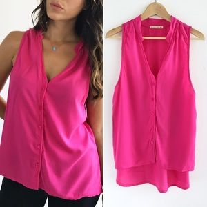 Alternative Tops - Alternative Pink Button Down Top
