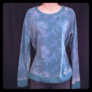 Honeydew Intimates Tops - Honeydew Teal Tropical Lightweight Sweatshirt