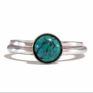 925 Silver Turquoise Stacking Ring Set