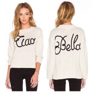 Wildfox Sweaters - Wildfox Ciao Bella Dinner Party Ivory Sweater