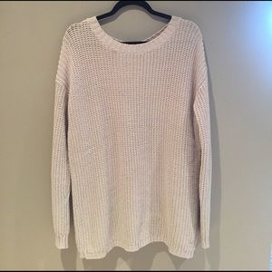 Central Park West Sweaters - Chunky open back sweater