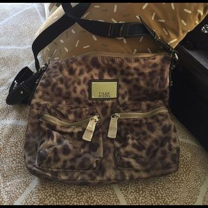 Tyler Rodan leopard nylon purse